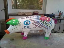 Sparschwein zur 80er Party