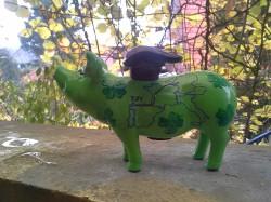 Sparschwein mit dem Jakobsweg