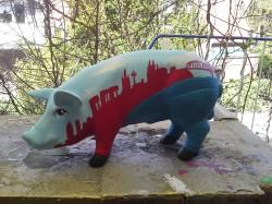 Sparschwein mit Kölner Skyline_1