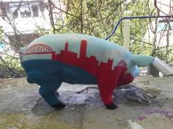 Sparschwein mit Kölner Skyline_2