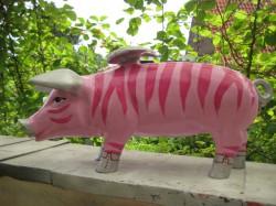 Sparschwein Zebra mit Flügeln_1