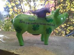 Sparschwein mit Widmung