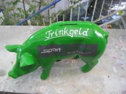 Sparschwein zur Geschäftseröffnung