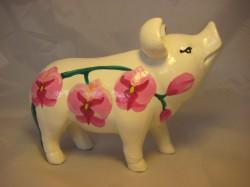 Sparschwein mit Orchideen_1